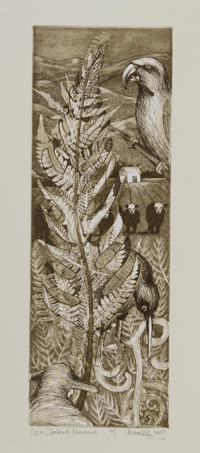 "New Zealand Memories Etchin & Aquatint | 6x18"""