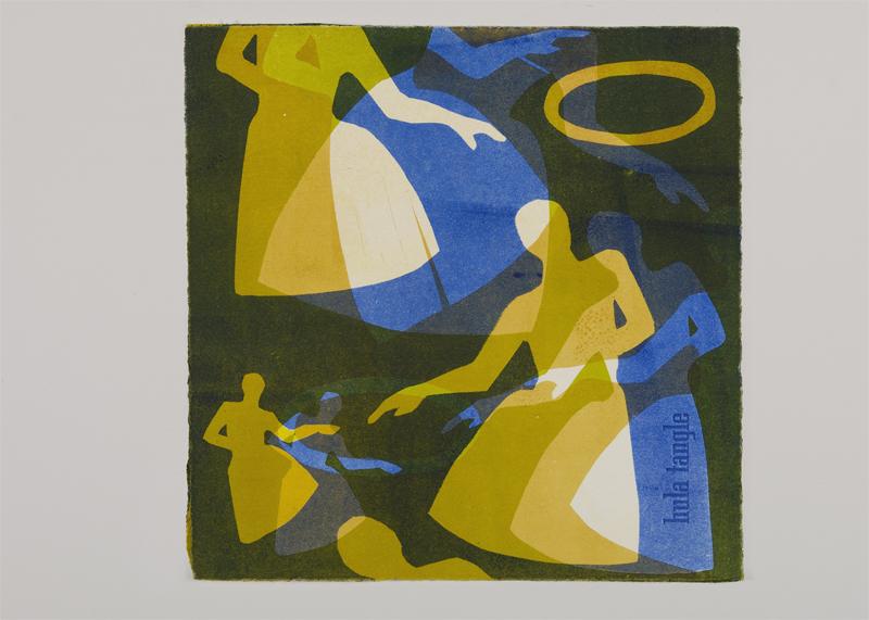 "Hula Tango I Monotype | 16x8"""