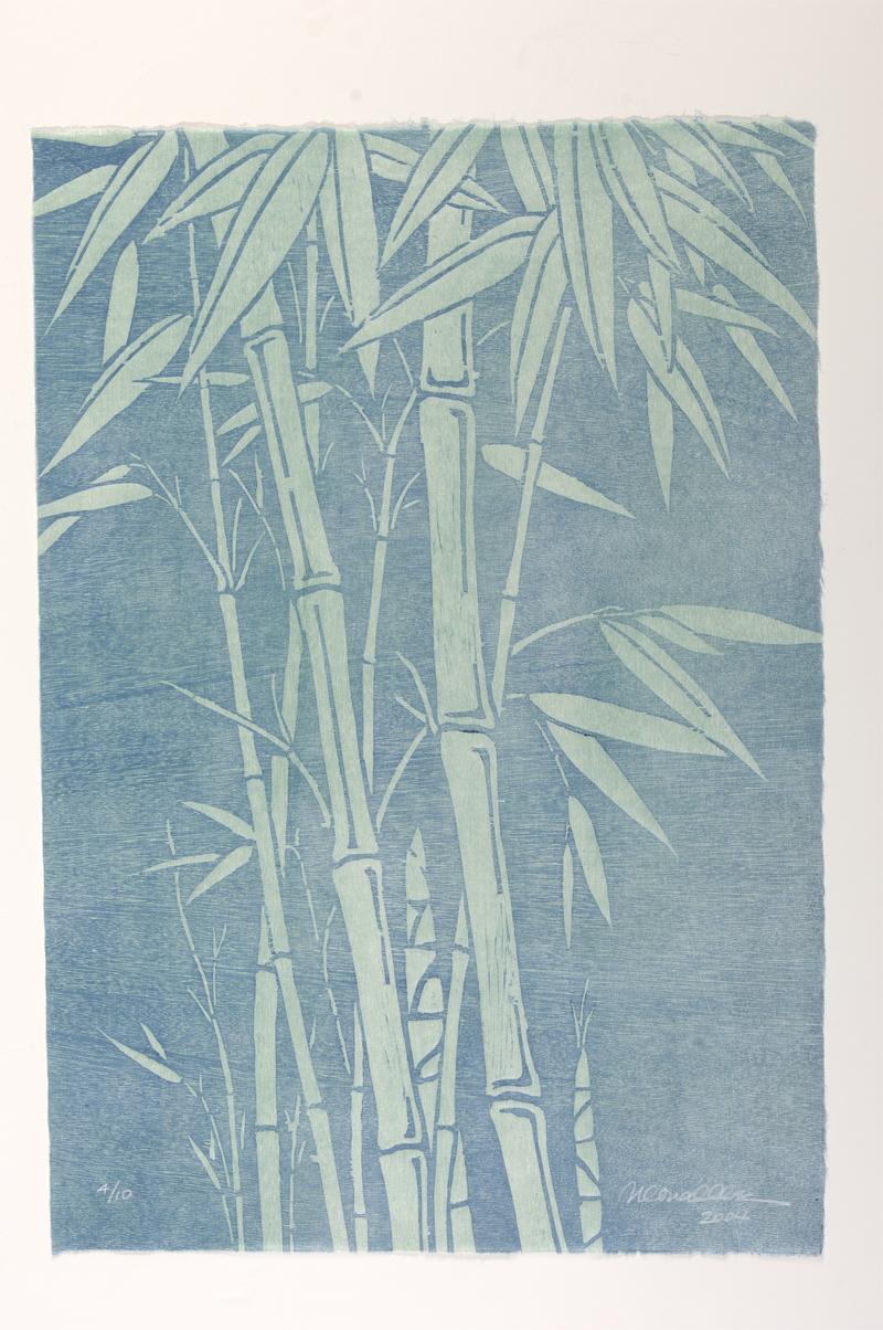 "New Bamboo Woodcut | 15x22"""