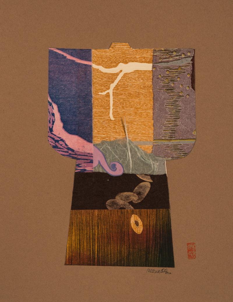 "Kimono III Collage   10x13"""