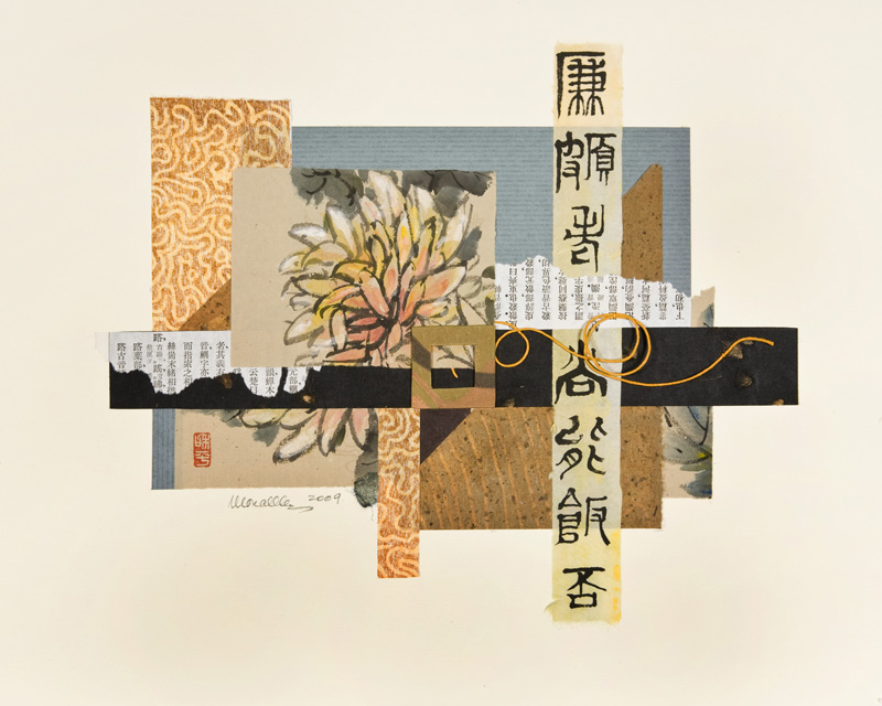 """Ode to Chrysanthemum I Collage   15.5x12"""""""