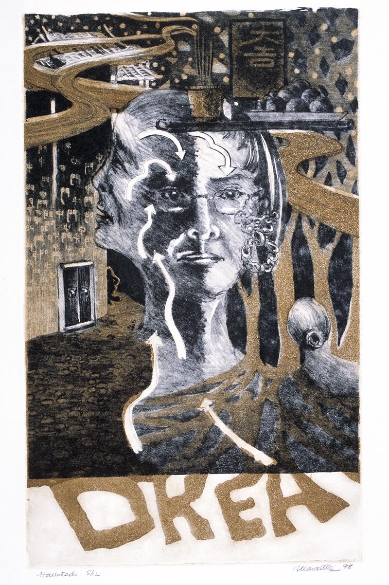 "Self-Portrait Lithograph | 13x13"""