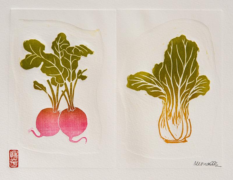 "Veggie Series Linocut | x"""