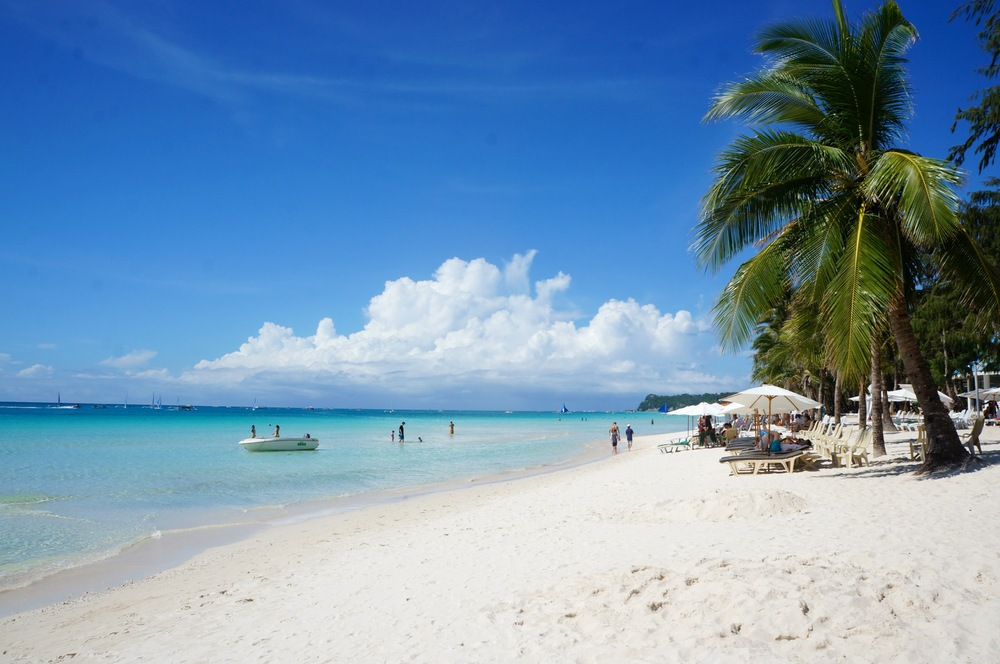 The beautiful white sand beaches of Boracay.