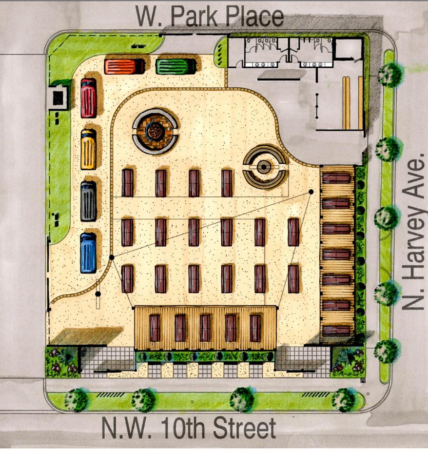 Bleu Garten site plan