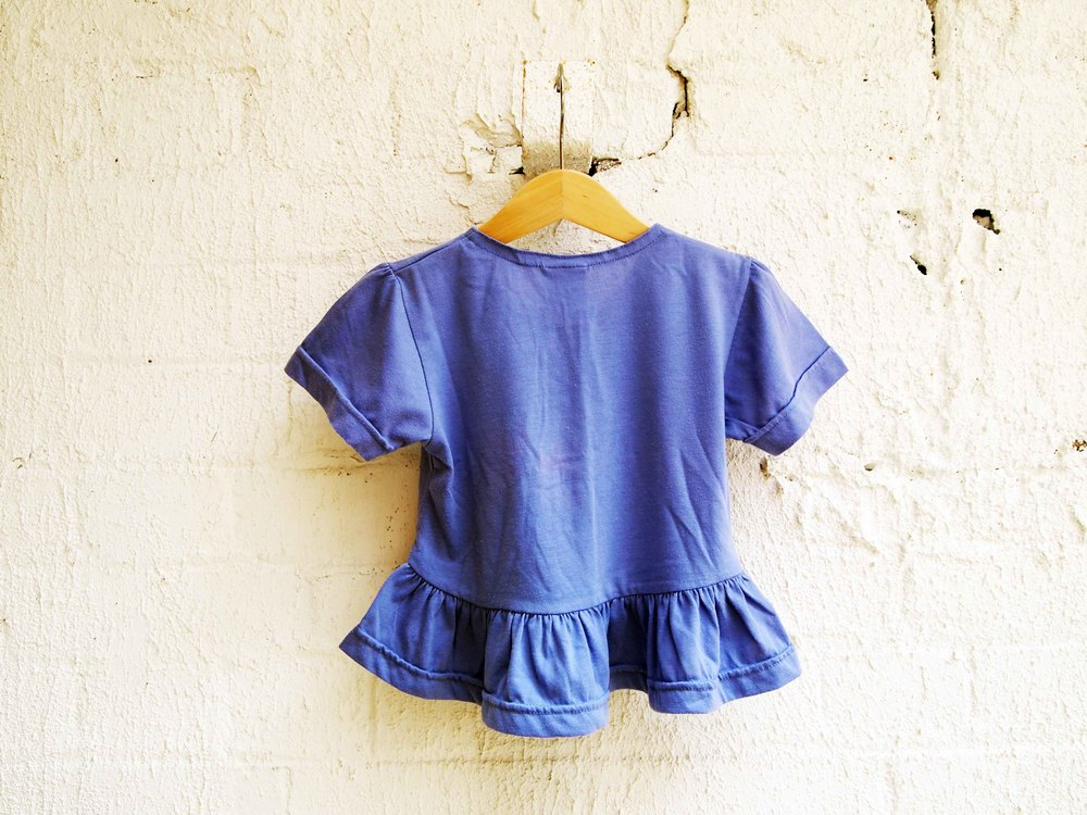 Vintage 1980's Girls Peplum T-shirt