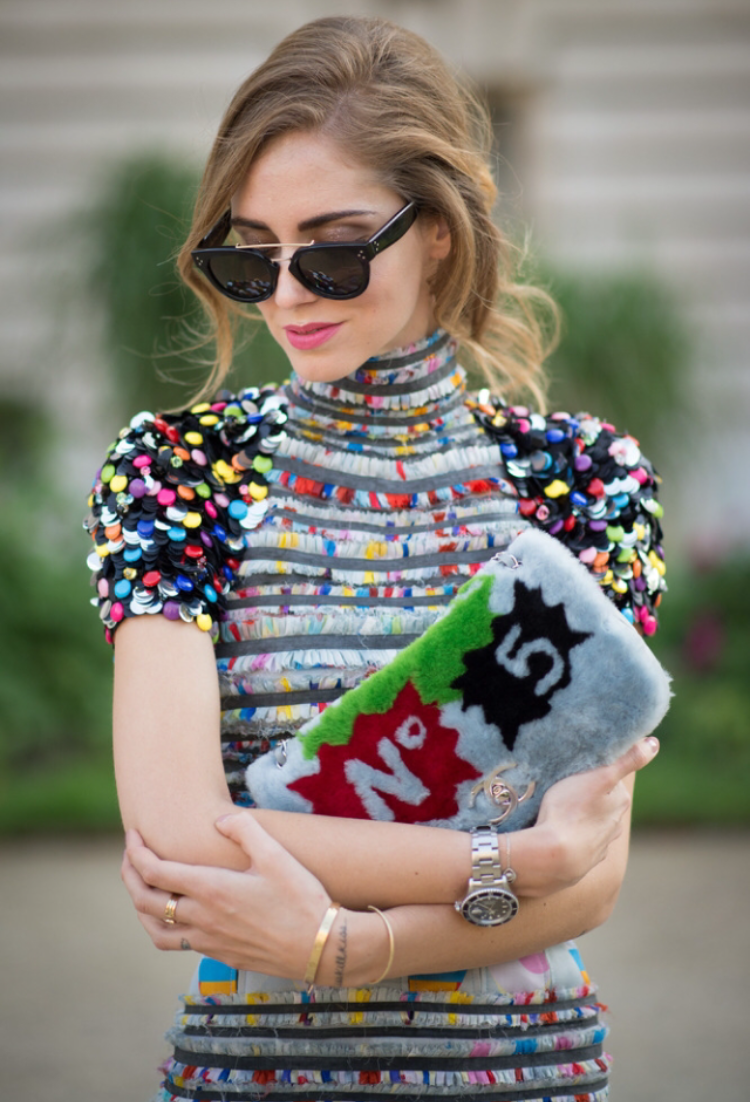 Nice Sunglasses....  But this Chanel Dress & Clutch!