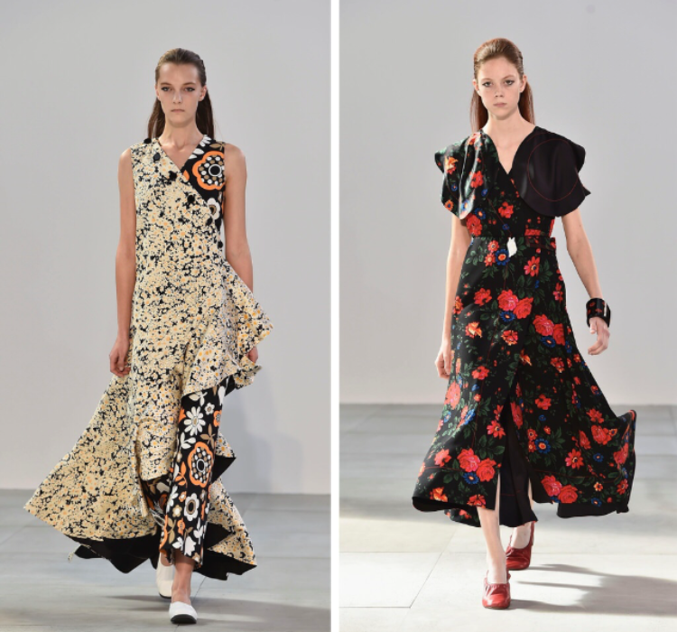 Celine  Ladies, don't worry- florals will be continuing into next season. & Celine finds a way to make them different (Images cutesy of theguardian)