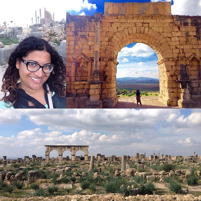 When you're walking through Roman ruins in Morocco and it hits you ... as it hits you in waves over and over again ... this is my life now. #pcmorocco #poshcorps #volubilis #sundayfunday