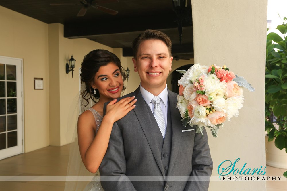 Ariana & Brandon {Real Wedding}| Just Save the Date| Photo Credit: Solaris Photography