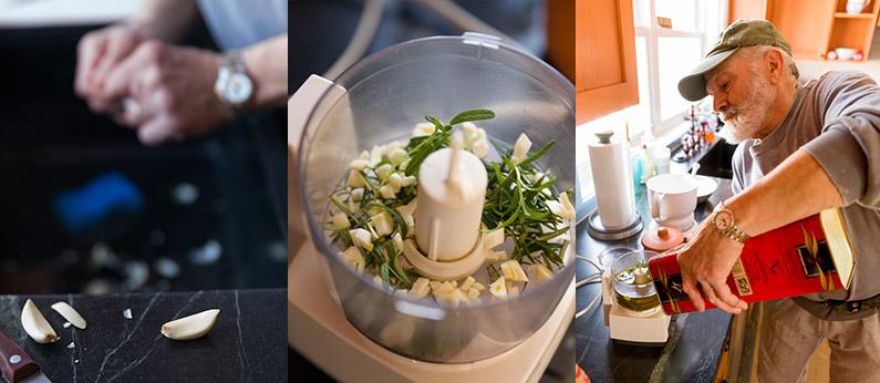 Garlic, rosemary, olive oil...