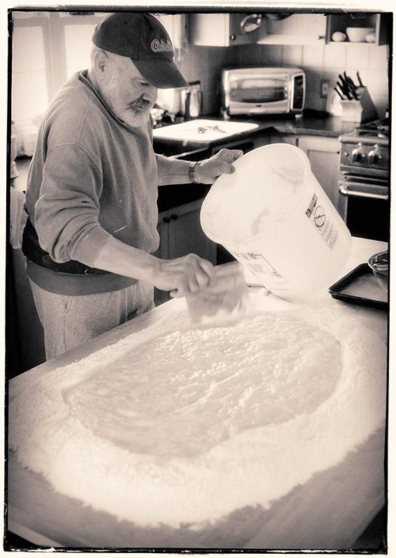 The risen dough is ready....
