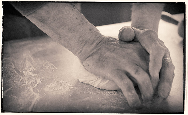 and kneaded
