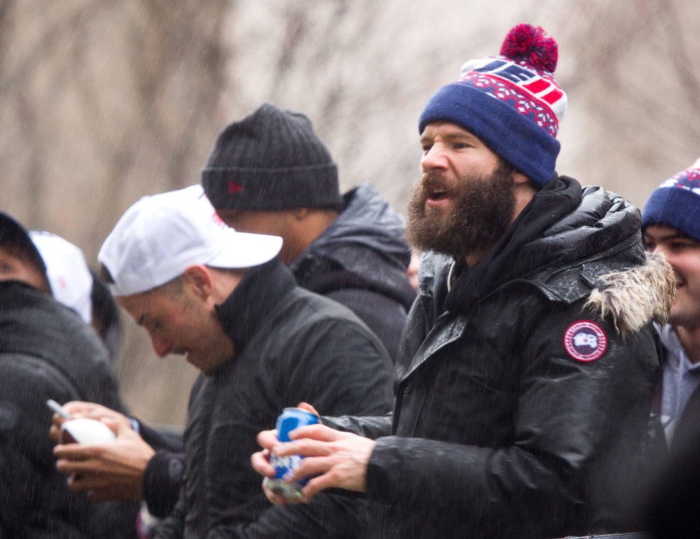 Julian Edelman got one too.