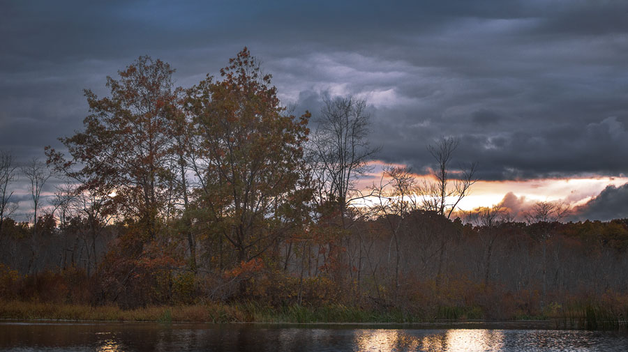 The autumn colors of Black River Wildlife Reservation in Chester and Roxbury township.