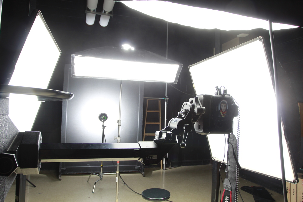 The set up of the first shoot I did for the project, but not the set up I stuck with for the project. Dozens of shoots and endless hours in the studio helped me really crack down on a set up that worked best for the project.