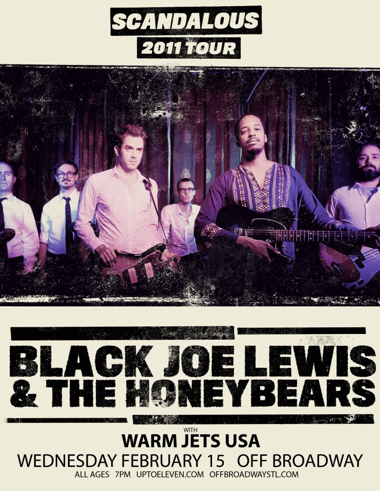 Black Joe Lewis at Off Broadway flyer