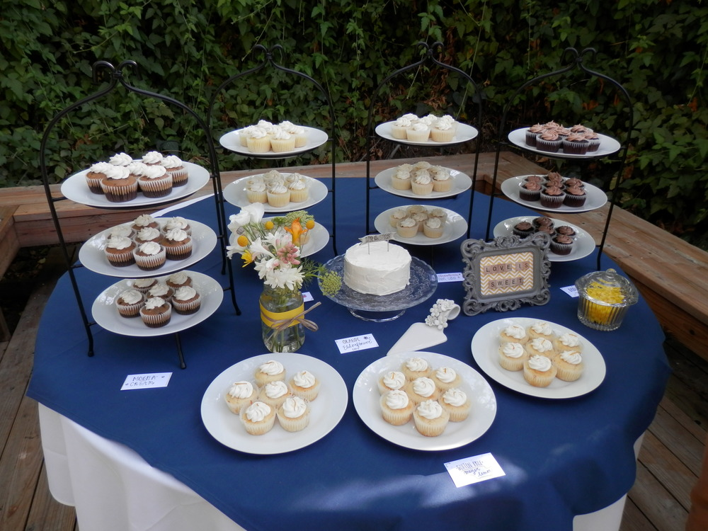 chris and bond's wedding with gluten-free meyer lemon cupcakes, an ...