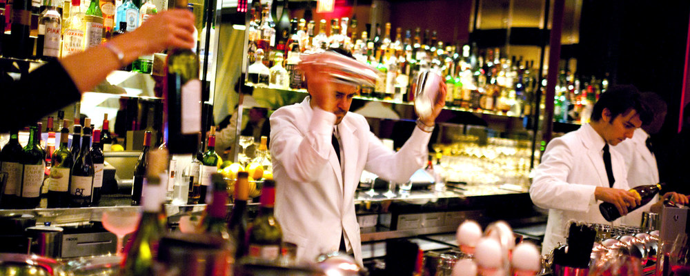 Bartender Shaking Cocktails