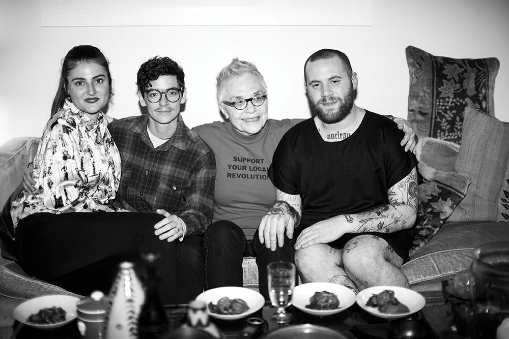 Ariel Sims, JD Samson, Barbara Hammer and Jake Dibeler