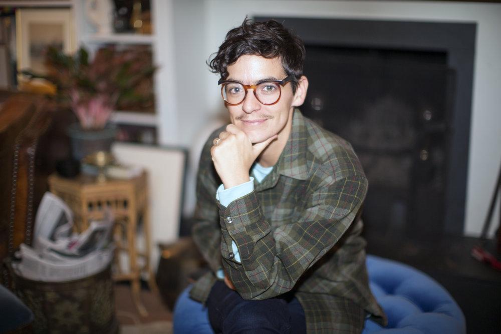 JD at Jason's house, New York, NY, 2015.