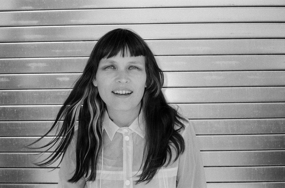 Liz Wendelbo on the street by my studio, Brooklyn, NY, 2016.