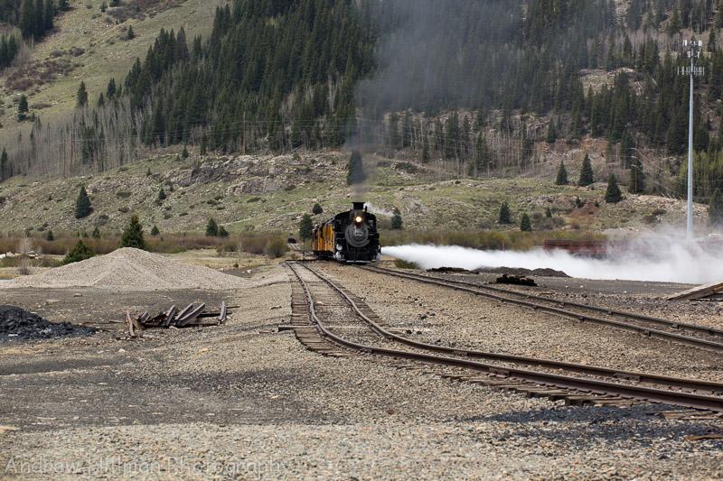 Train coming into Silverton - Colorado - Reference US26