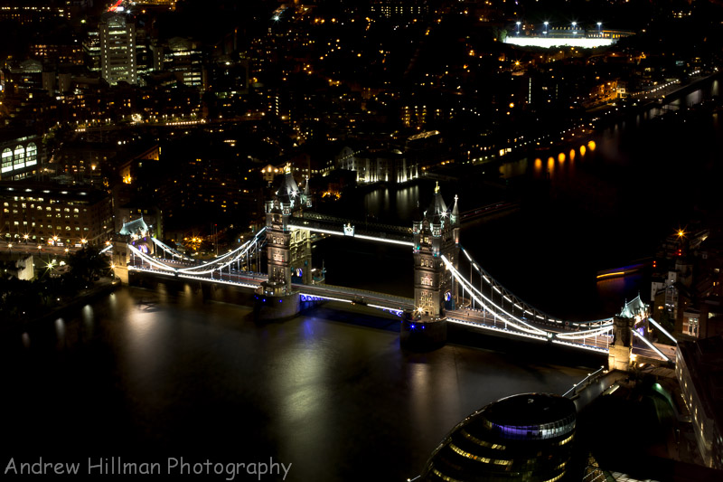 Tower Bridge (This was taken from the View from the Shard - one of my favourite places for some of the best views in London. Photo just for display).