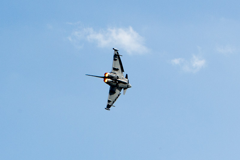 Another of my favourite aircraft is the Eurofighter Typhoon. Britain's first line of defence.