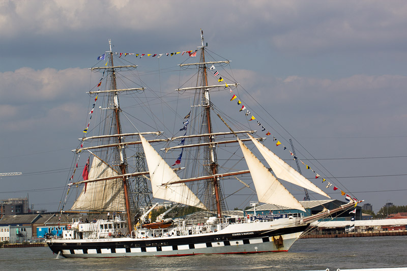A couple of pictures from the Tall Ships that sailed through Greenwich.