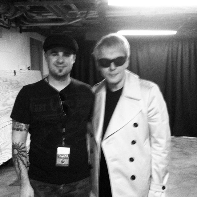 Never trust the security guard to take your picture with your hero 😳 #nickrhodes