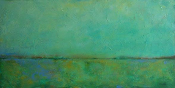 "Green Peace // 24"" x 48"" // SOLD"