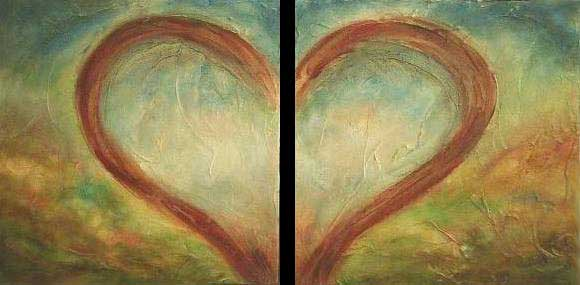 """Heart Soul // 12"""" x 24"""" // SOLD"""