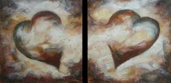 "Open Hearts // 20"" x 40"" // SOLD"