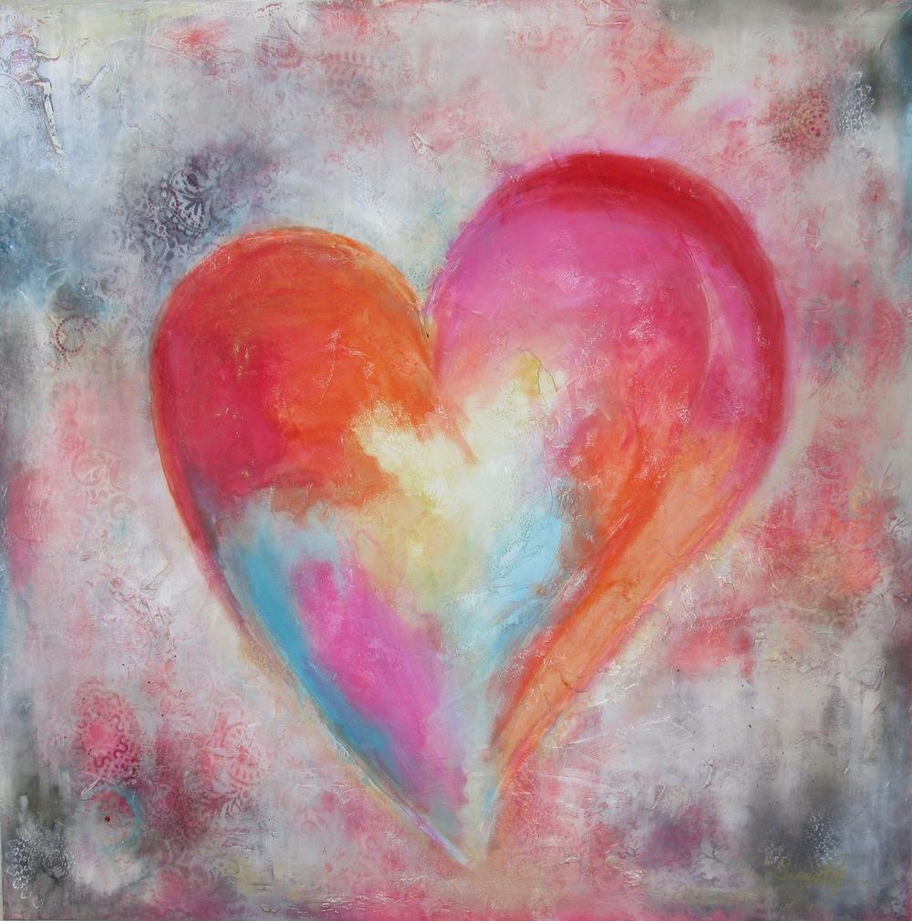 Harlequin Heart-48x48//SOLD
