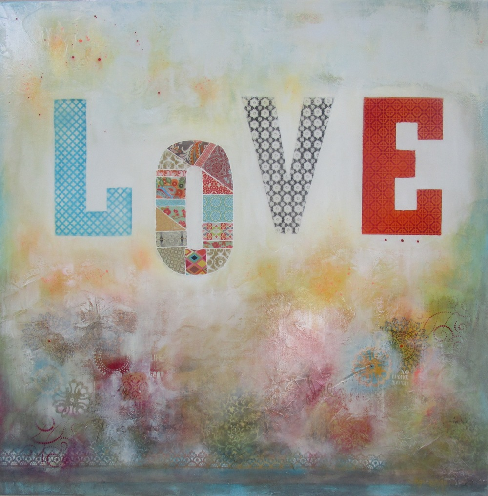 """LOVE  48"""" x 48"""""""