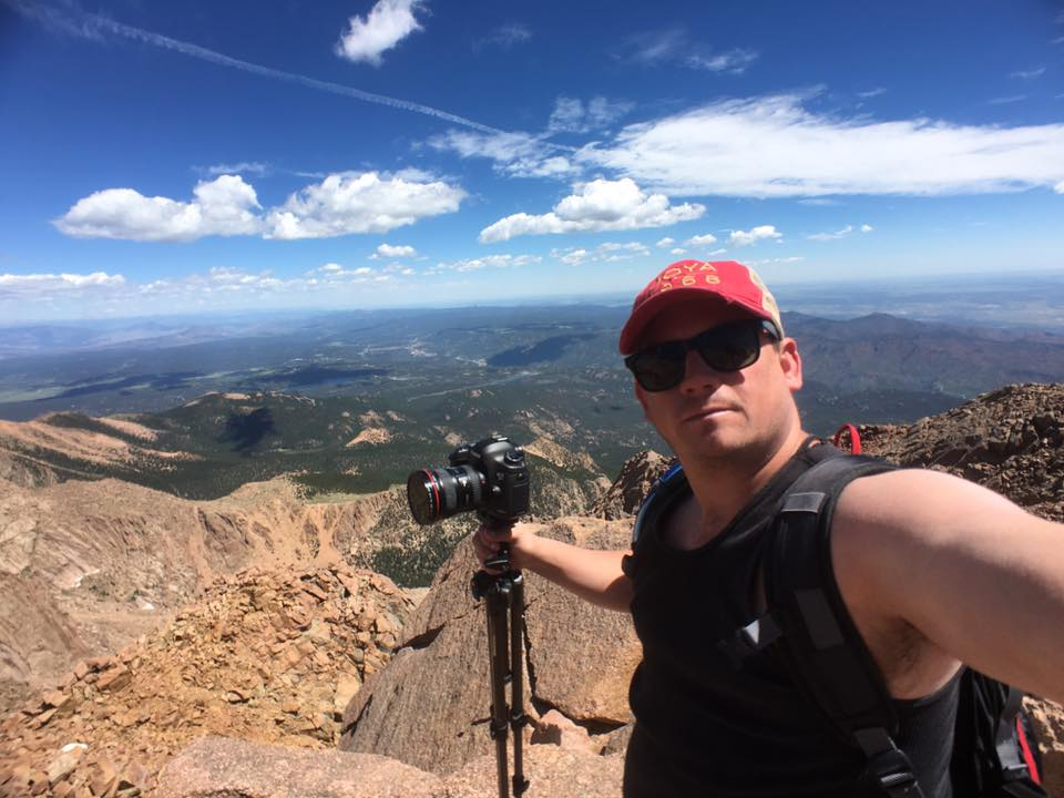 Photographing Pike's Peak in Colorado Springs, Colorado