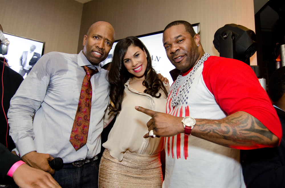 "Kenny ""The Jet"" Smith ,  Gwendolyn Osborne , and  Busta Rhymes  @ 11th Annual Kenny ""The Jet"" Smith All Star Bash"