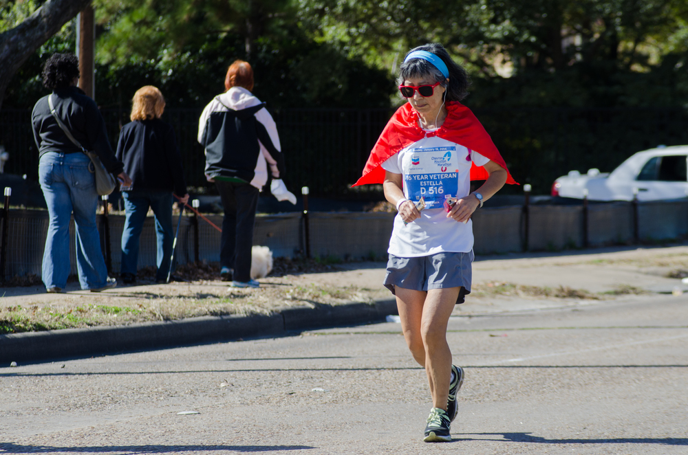 This marathon, however, was very tough for her. She speculates that she may not have trained or rested enough, which led her legs to fell more tired much earlier in the race than in previous years. Even so, she did not give up. She pushed herself to just keep running mile after mile.