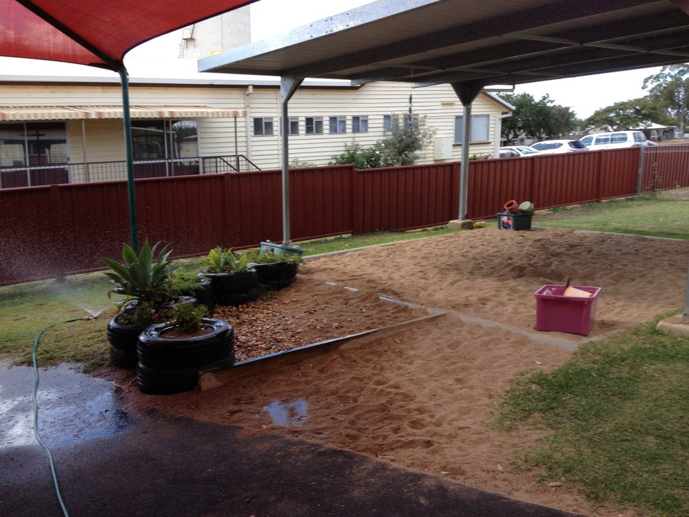 clermont kindy sandpit/before