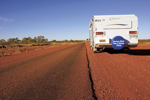 This is a pic of the road we are about to undertake. yee har! Not our caravan we are going in with a 3 convoy of utes...