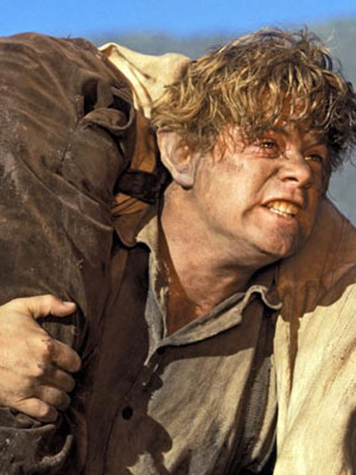 Samwise carrying Frodo and the ring.  Did you cry when this happened?  I sure did.