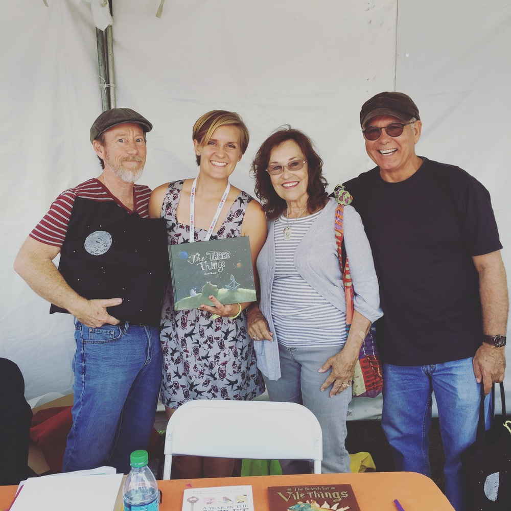 With wonderful friends at the O.C. Kid's Book Fair, October 4th, 2015