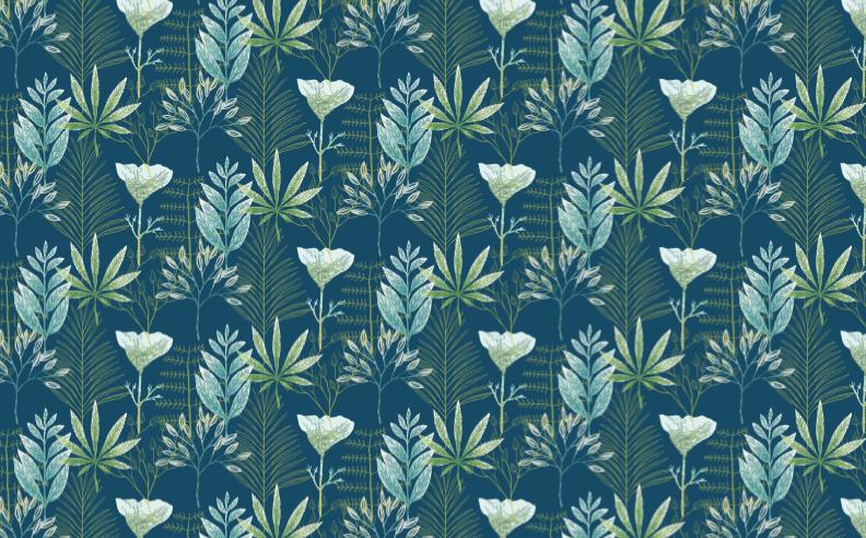 eaze-design-wallpaper-poppy-cannabis-office-illustration