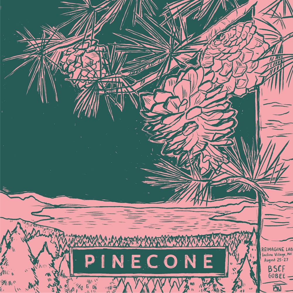 annie-ruygt-illustration-blue-shield-pinecone-poster-art-orange-county