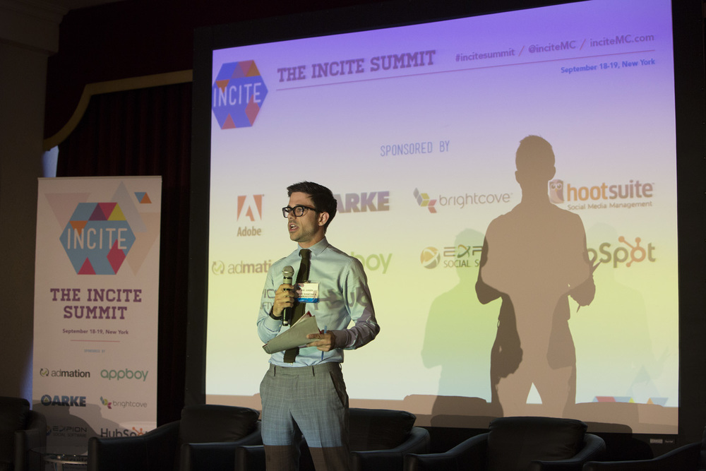 Onstage at our first Incite Summit, held in NYC in September 2013.
