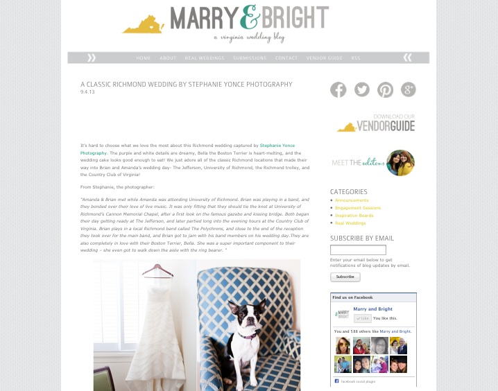 Marry & Bright - A VA Wedding Blog
