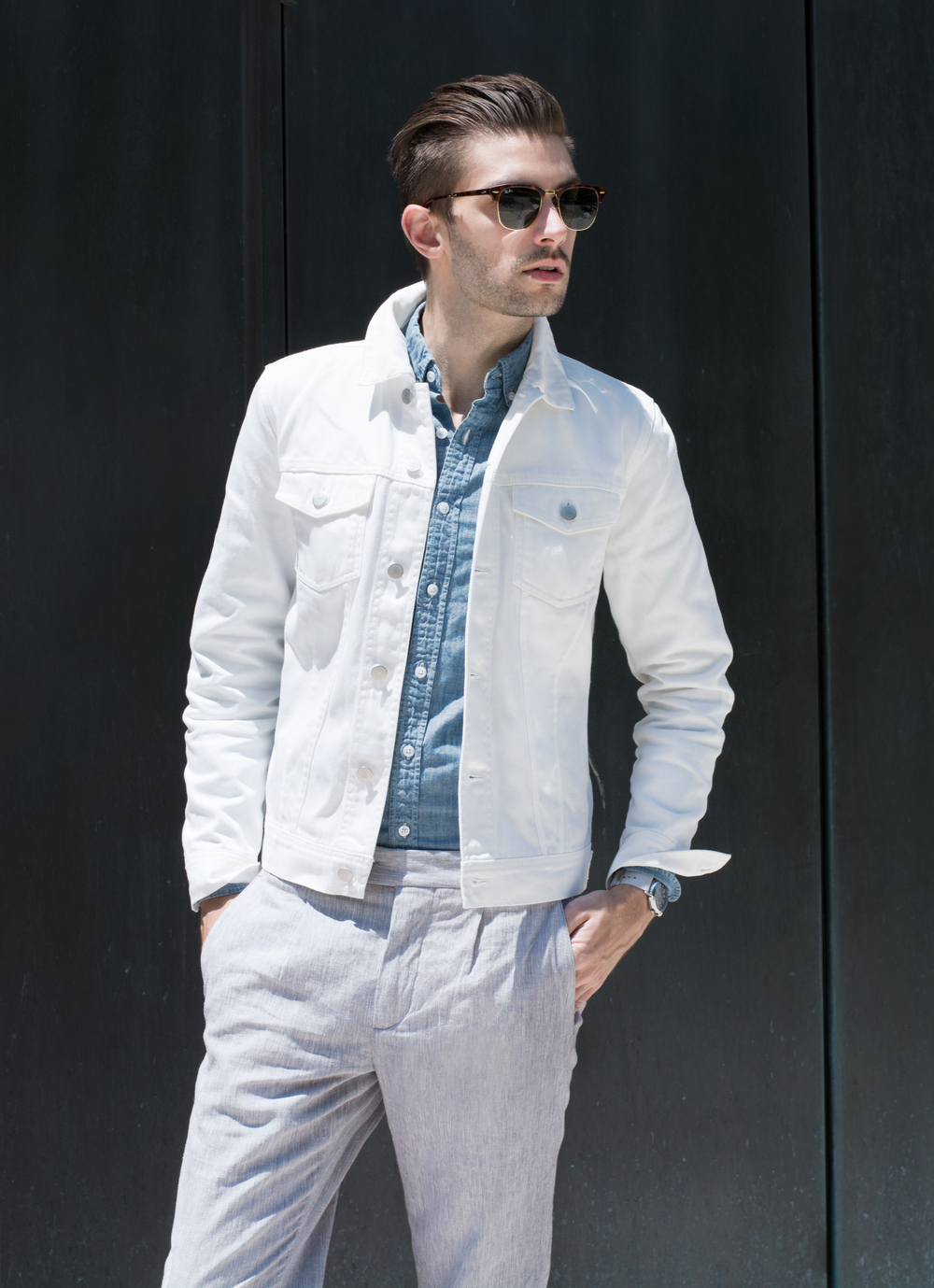 The Modern Otter | Club Monaco #menswear #style #whitedenim
