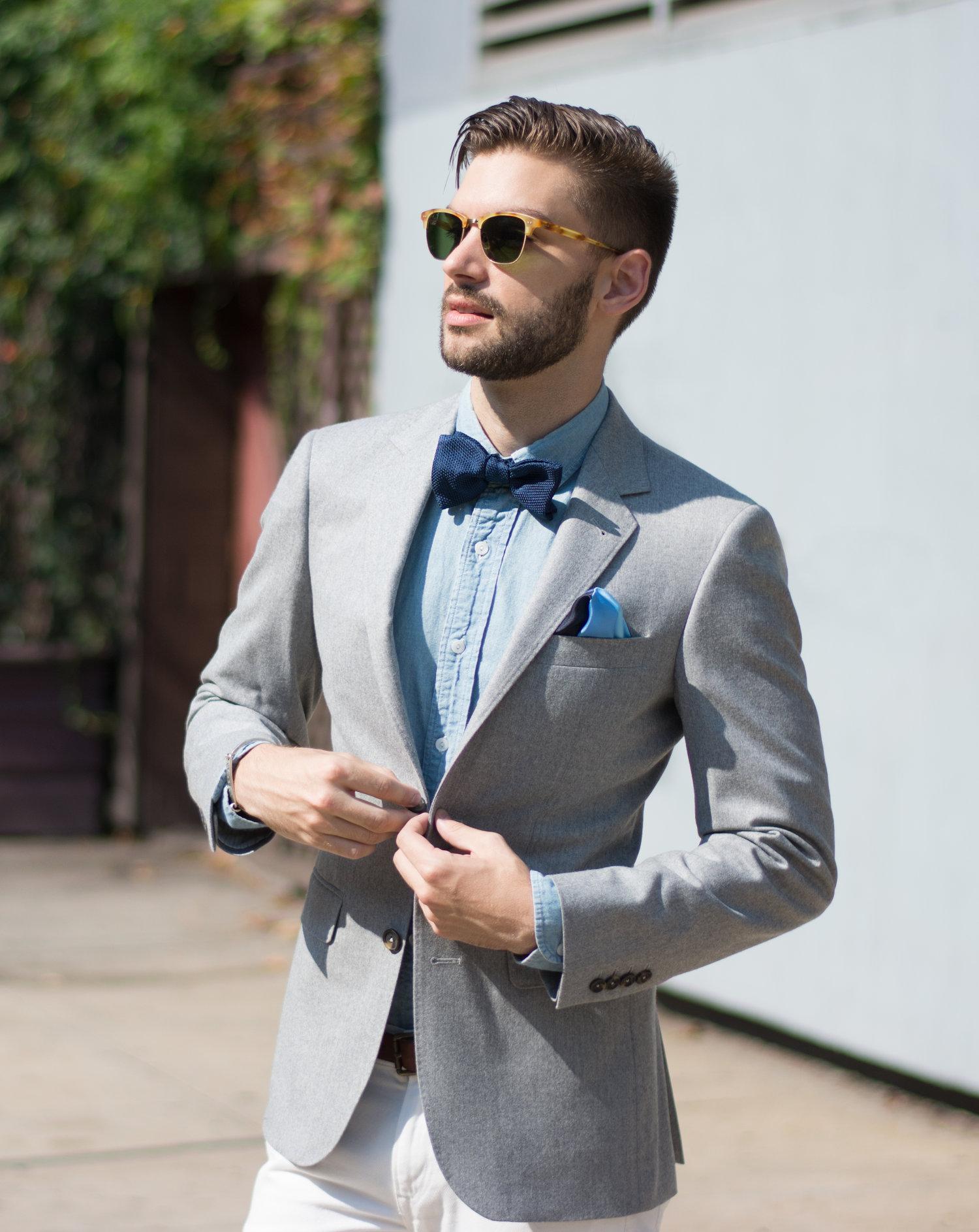 24b2c3ab597a How To Style a Bow Tie For A Wedding — The Modern Otter