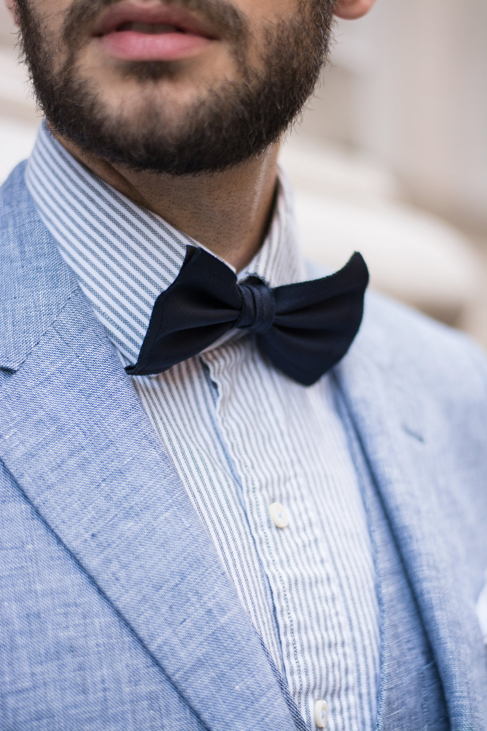 How To Style a Bow Tie For A Wedding